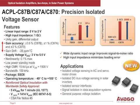 Using Avago Optical Isolation Amplifiers In Solar Power Systems