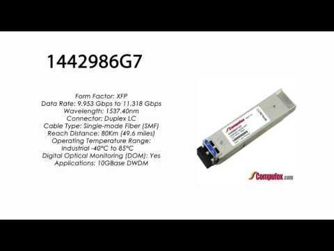 1442986G7     Adtran Compatible 11.3G DWDM XFP 1537.40nm 80km LC