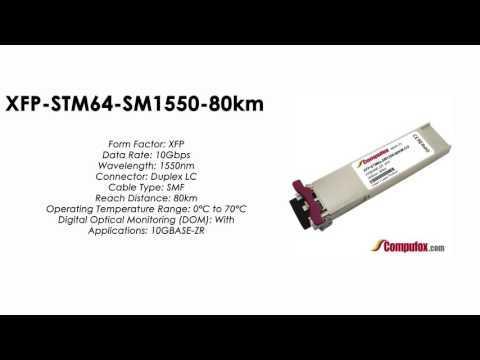 XFP-STM64-SM1550-80km  |  Huawei Compatible XFP 10GBASE-ZR SMF 1550nm 80km