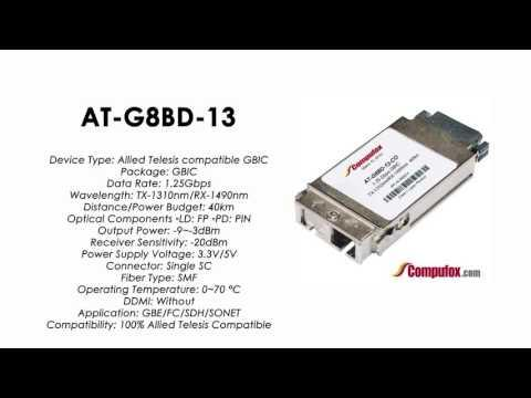 AT-G8BD-13     Allied Telesis Compatible 1000LX TX1310nm/RX1490nm 40km GBIC