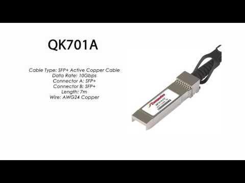 QK701A | HP Compatible SFP+ Active Copper Cable 7m