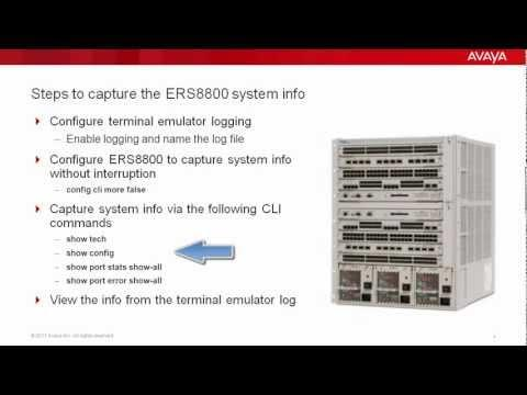 Capturing Troubleshooting Info On ERS8800