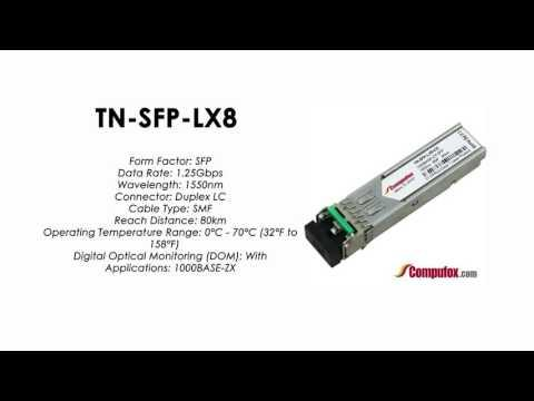 TN-SFP-LX8  |  Transition Compatible 1000BASE-LX SFP 1550nm SMF 80km