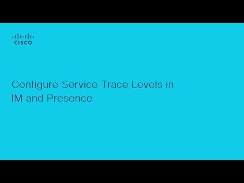 Presence - Configure Service Trace Levels