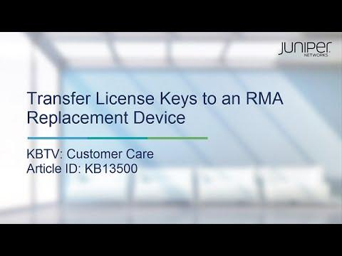 Transfer License Keys To An RMA Replacement Device