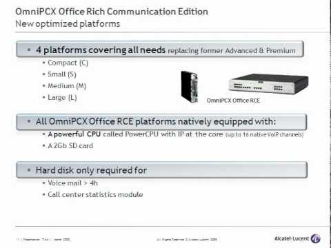 Alcatel-Lucent OmniPCX Office R8.0 Update
