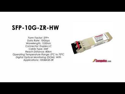 SFP-10G-ZR-HW  |  Huawei Compatible SFP+ 10GBASE-ZR SMF 1550nm 80km