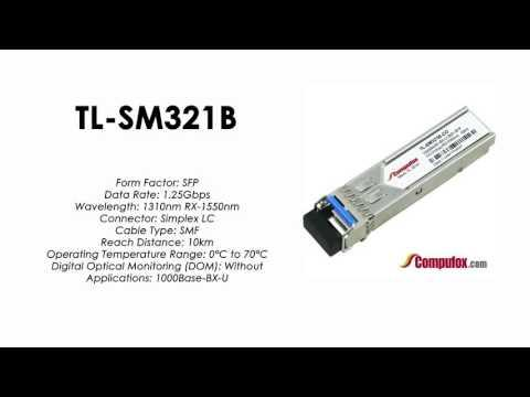 TL-SM321B  |  TP-Link Compatible 1000Base-BX Tx1310nm/Rx1550nm 10km SFP