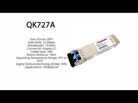 QK727A     HP Compatible 10GBase-LR Sfp+ 1310nm 10km