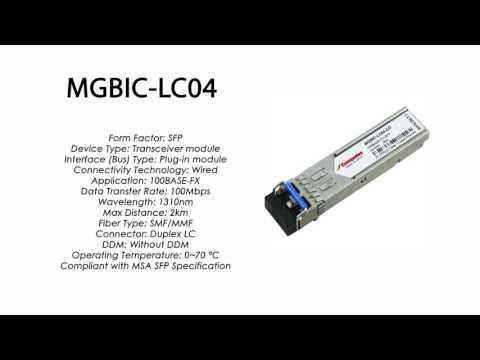 MGBIC-LC04 | Enterasys Compatible 100BASE-FX SFP 1310nm 2km MMF