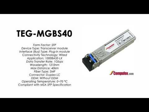 TEG-MGBS40  |  TRENDnet Compatible 1000Base-LX 1310nm 40km SFP