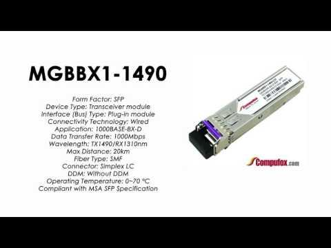 MGBBX1-1490  |  Linksys/Cisco Compatible 1000Base-BX-D Tx1490nm/Rx1310nm 20km SFP