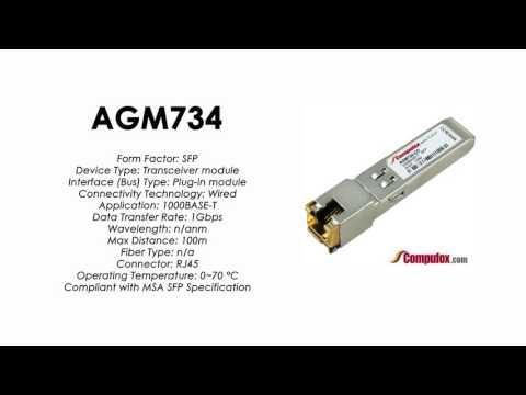 AGM734  |  Netgear Compatible 1000Base-T RJ45 100m SFP