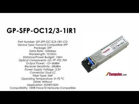 GP-SFP-OC12/3-1IR1   (Force10 100% Compatible Optical Transceiver)