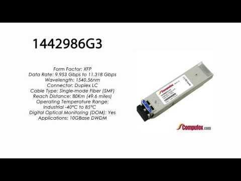 1442986G3  |  Adtran Compatible 11.3G DWDM XFP 1540.56nm 80km LC