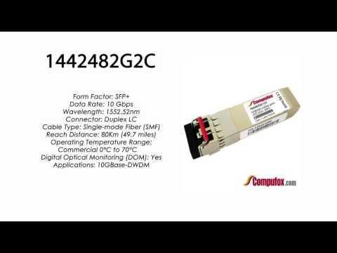 1442482G2C  |  Adtran Compatible 10GBase-DWDM 1552.52nm 80km SFP+