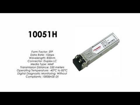 10051H  |    |  Extreme Networks Compatible 1000BASE-SX SFP 850nm 550m MMF Industrial