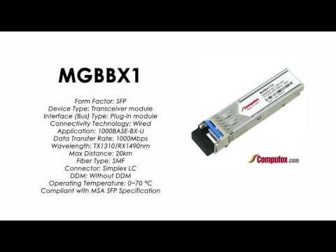 MGBBX1     Linksys/Cisco Compatible 1000Base-BX-U Tx1310nm/Rx1490nm 20km SFP