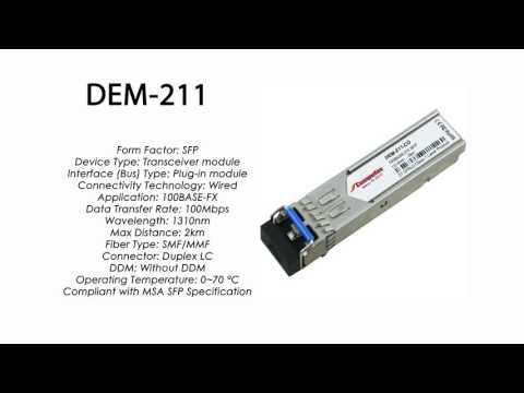 DEM-211  |  D-Link Compatible 100Base-FX SFP 1310nm 2km