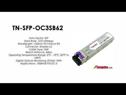 TN-SFP-OC3SB62     Transition Compatible 100BASE-FX/OC-3 BIDI SFP 1550nmTx/1310nmRx 60km