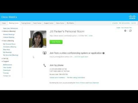 WebEx Meeting Center: Personal Conference Overview (WBS29.12)