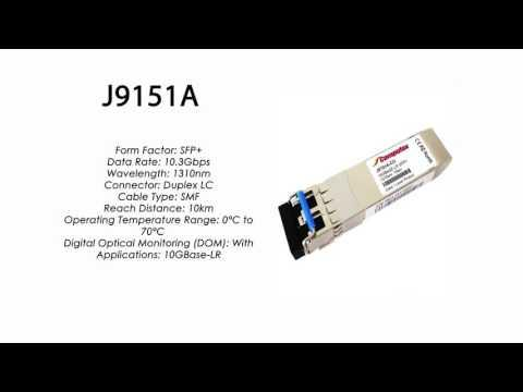 J9151A  |  HP Compatible 10GBase-LR SFP+ 1310nm 10km