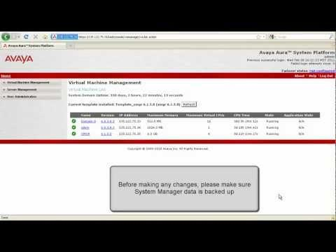 How To Change The IP Address Of Avaya Aura System Manager