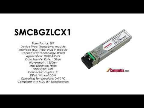 SMCBGZLCX1  |  SMC Compatible 1000Base-ZX 1550nm 70km SFP
