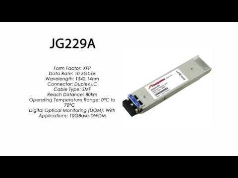 JG229A  |  HP Compatible 10GBase-DWDM XFP 1542.14nm 80km