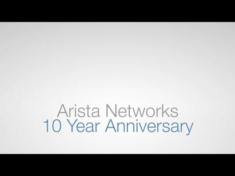 Arista Networks 10 Year Anniversary