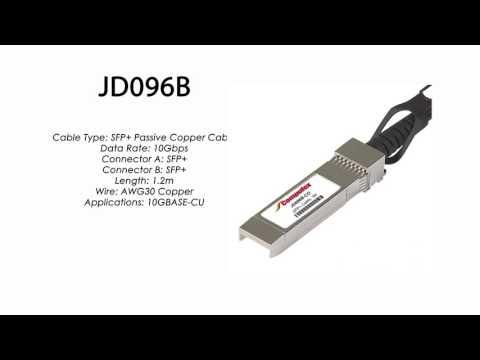 JD096B  |  HP Compatible SFP+ Passive Copper Cable 1.2m