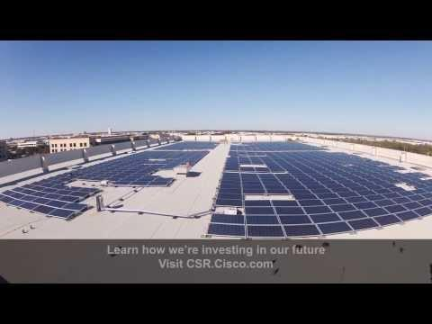 Improving Data Center Sustainability | Cisco Solar PV Installation