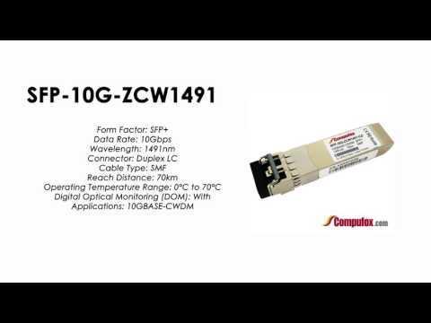 SFP-10G-ZCW1491  |  Huawei Compatible SFP+ 10GBASE-CWDM SMF 1491nm 70km