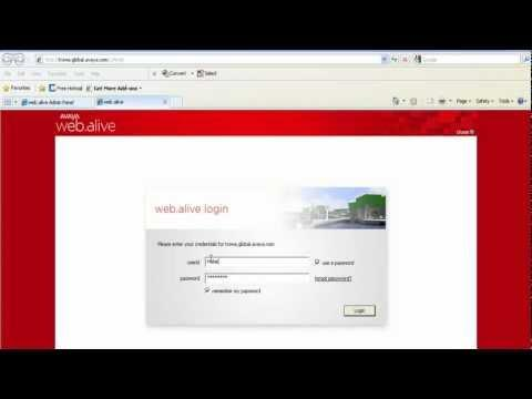 Avaya Web.alive On Premise Software (OPS) User Authentication