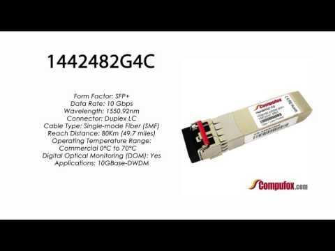 1442482G4C  |  Adtran Compatible 10GBase-DWDM 1550.92nm 80km SFP+