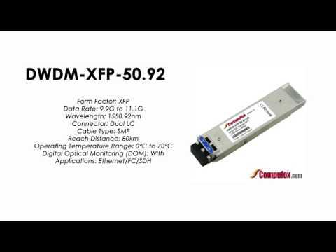 DWDM-XFP-50.92  |  Cisco Compatible 10GBASE-DWDM XFP 1550.92nm 80km