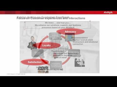 The Avaya Customer Experience Survey: Your Feedback Leading To Action