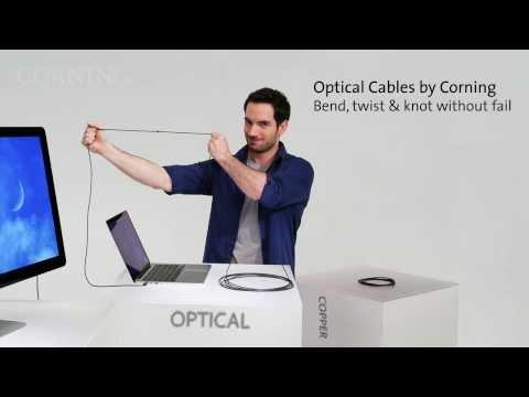 Thunderbolt™ Optical Cables By Corning -- Cables Just Got Better