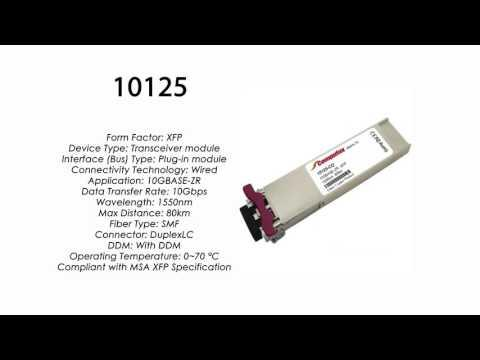10125  |  Extreme Networks Compatible 10GBASE-ZR XFP 1550nm 80km SMF