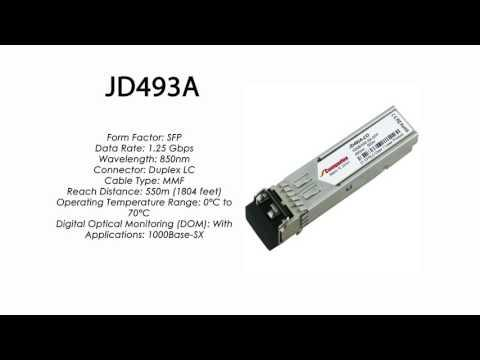 JD493A | HP Compatible 1000Base-SX 850nm 550m SFP