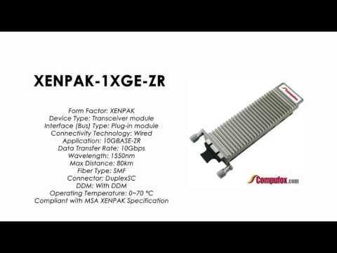 XENPAK-1XGE-ZR   Juniper Compatible 10GBASE-ZR XENPAK 1550nm 80km SMF