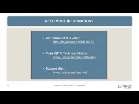 SRX Series: Configuring IDP On SRX - Juniper KBTV