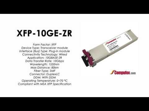 XFP-10GE-ZR  |  Redback Compatible 10GBASE-ZR 1550nm 80km XFP