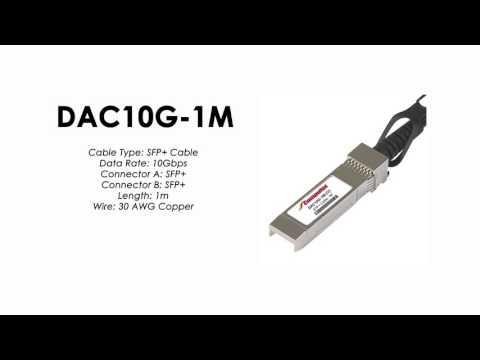 DAC10G-1M  | ZyXEL Compatible SFP+ to SFP+ Direct Attach Cable, Copper Passive, 1m