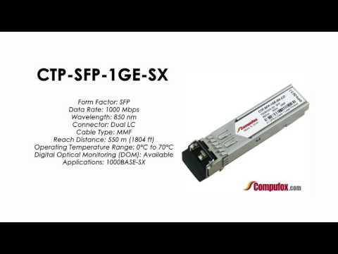CTP-SFP-1GE-SX  |  Juniper Compatible 1000BASE-SX SFP 850nm 550m MMF