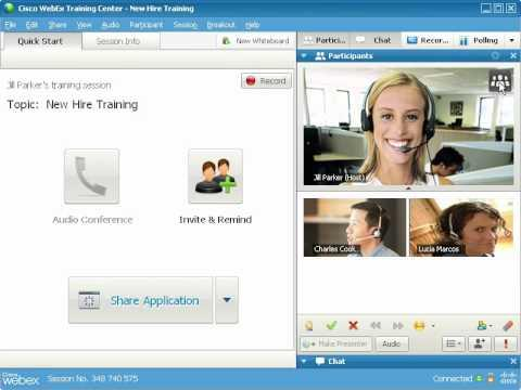WebEx Training Center: Send And Receive Video