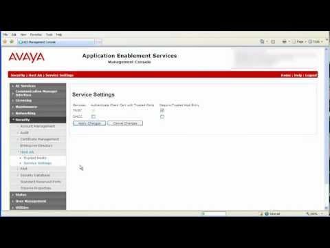 How To Enable TR/87 And Configure The Security Setting On Avaya AES For Integration With AACC
