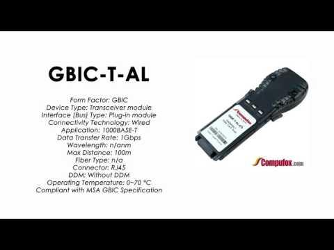 GBIC-T-AL  |  Alcatel Compatible 1000Base-T RJ-45 100m GBIC