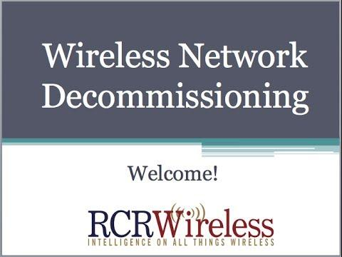 Editorial Webinar:  Network Decommissioning - Investment Recovery & Environmental Compliance