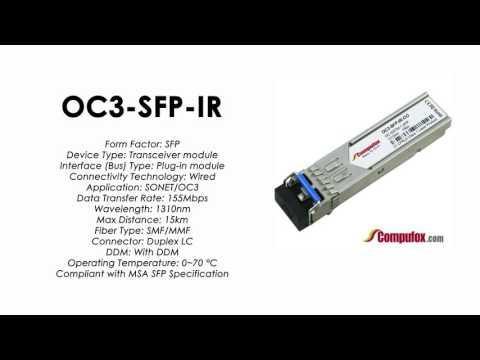 OC3-SFP-IR  |  Alcatel Compatible ATM-155Mbps/OC3 1310nm 15km SFP